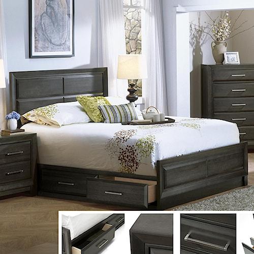 Defehr verona king storage bed stoney creek furniture for Stoney creek bedroom set