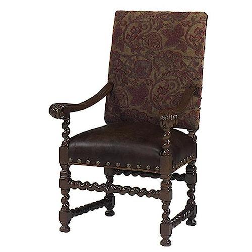 Designmaster Chairs Canterbury Barley Twist Arm Chair Wayside Furniture Dining Arm Chair
