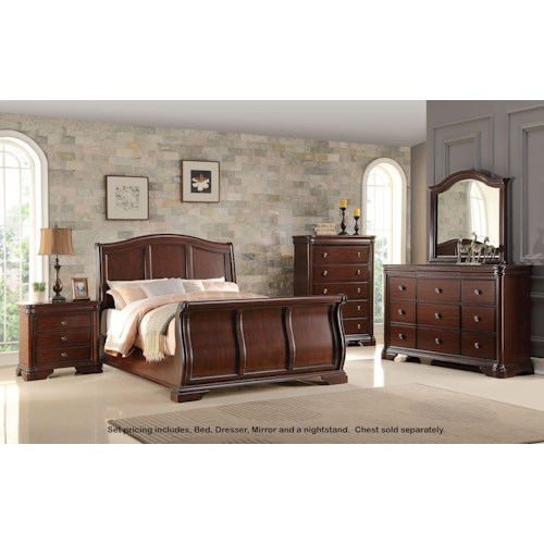 Miskelly Furniture Private Label Collection B161 King Bed