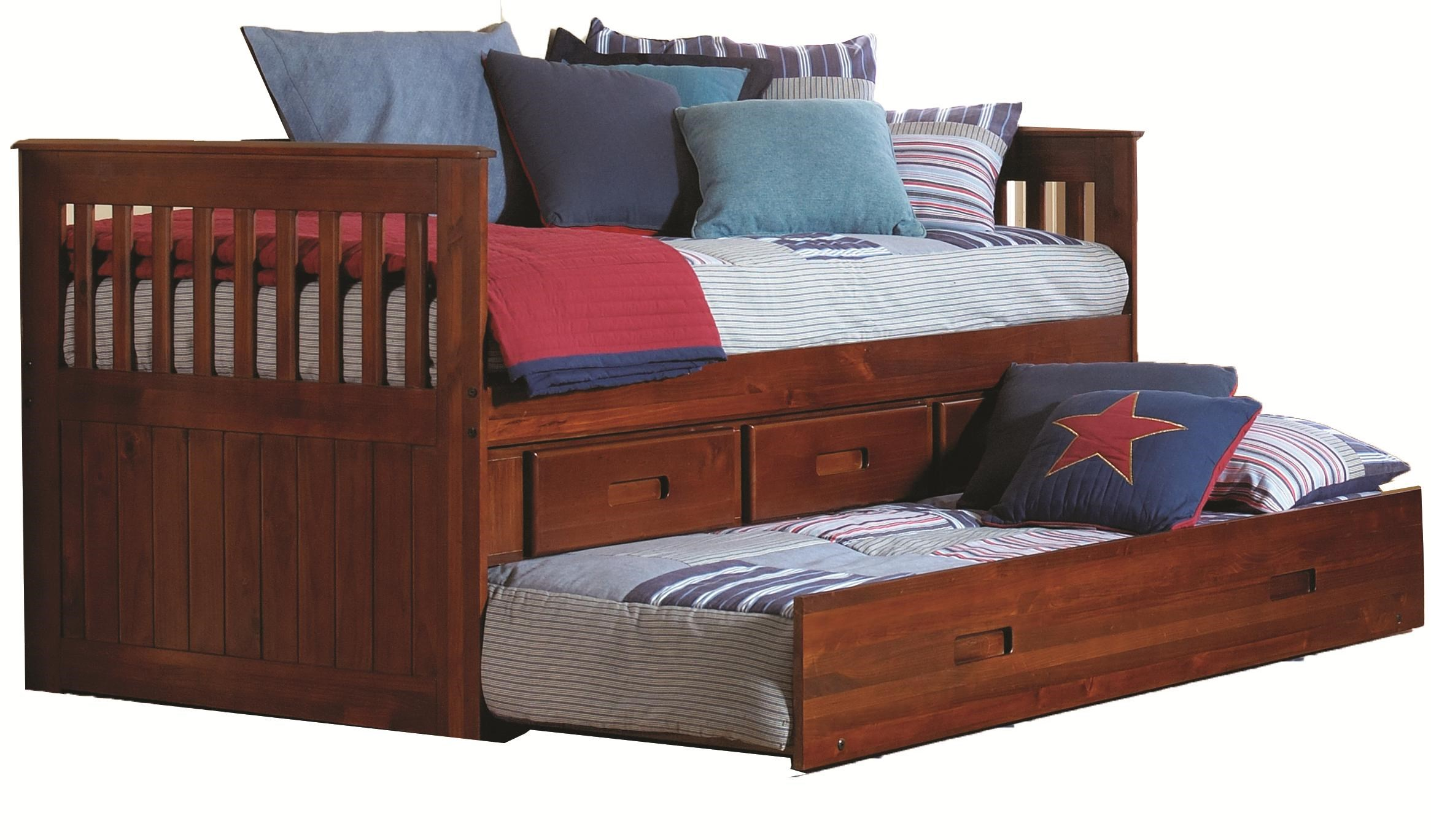 Merlot Twin Captain s Bed Walker s Furniture Daybeds