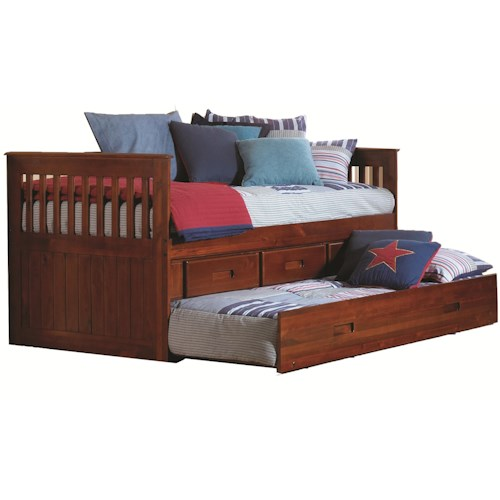 Merlot Twin Captain 39 S Bed Walker 39 S Furniture Daybeds Spokane Kennewick Tri Cities