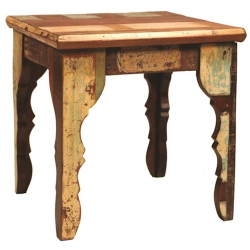 Dovetail furniture dovetail square end table stuckey for Dovetail furniture