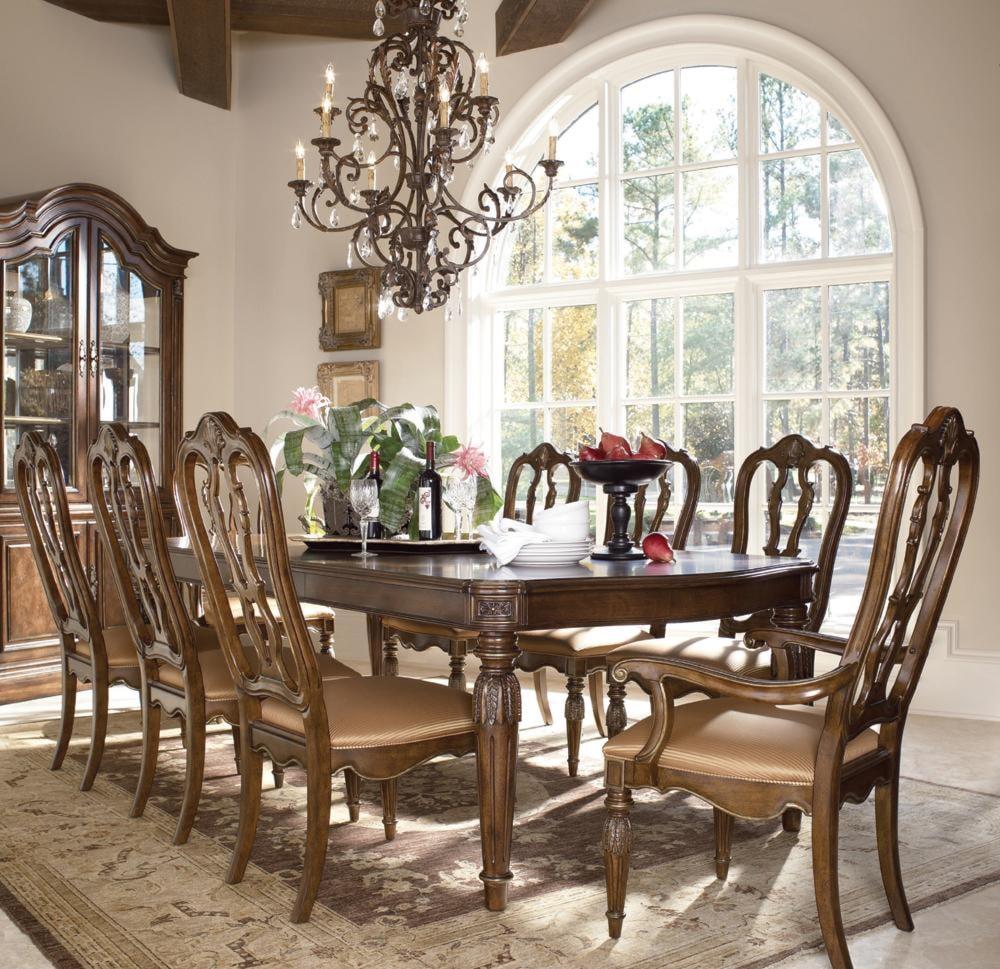 drexel heritage 174 casa vita 9 piece giordano dining table
