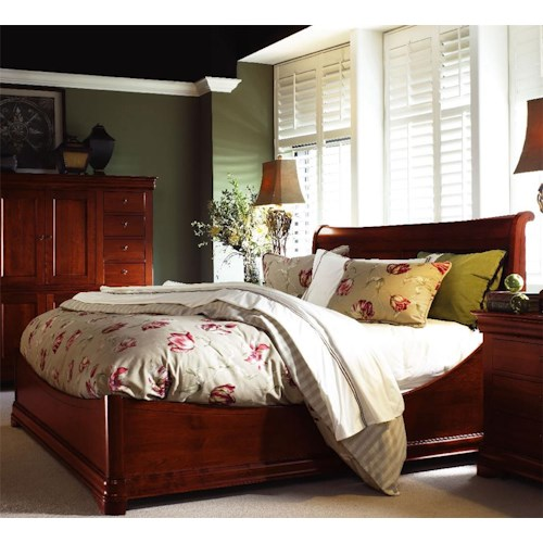 Durham Chateau Fontaine Euro Sleigh Bed Jacksonville