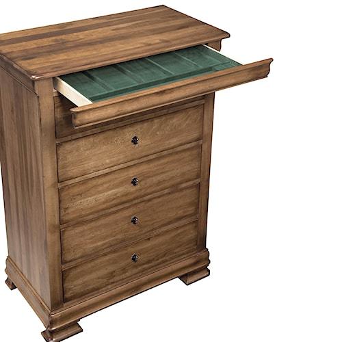 Durham vineyard creek decorative drawer chest with hidden for Hidden jewelry drawer