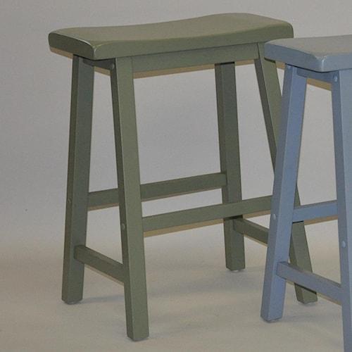 E c i furniture bar stools 24 saddle stool dunk - Bright colored bar stools ...