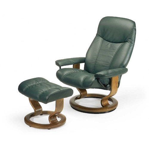 Stressless By Ekornes Stressless Recliners Consul Medium Reclining Chair And Ottoman Fashion