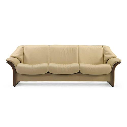 Stressless By Ekornes Stressless Eldorado Low Back Reclining Leather Sofa Rotmans Reclining