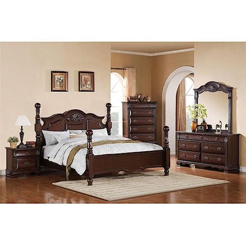 Elements International Bryant Queen Bedroom Group