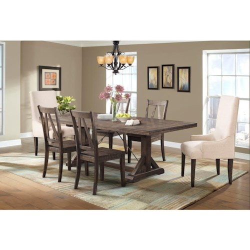 elements international finn dining table 4 side chairs