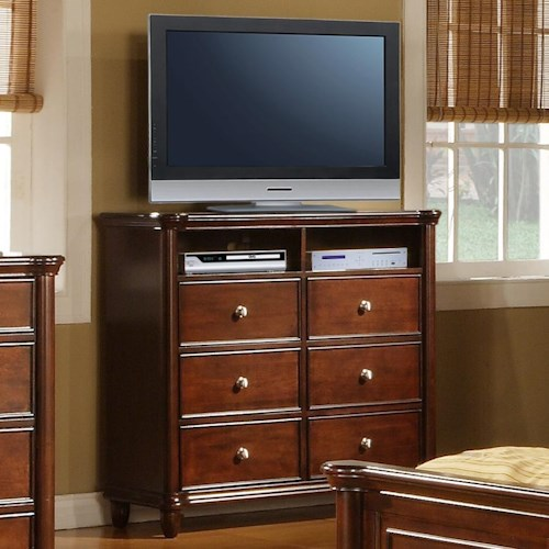 Tv Bedroom Furniture: Elements International Hamilton Bedroom TV Stand