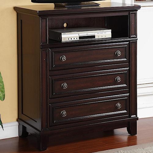 Tv Bedroom Furniture: Elements International Harwich TV Chest