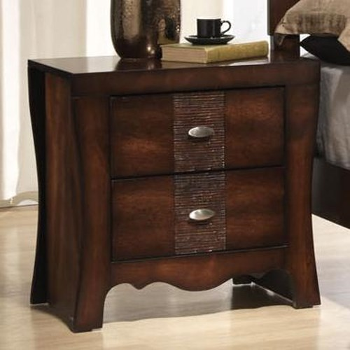 Elements International Jenny Night Stand With 2 Drawers John V Schultz Furniture Night Stand