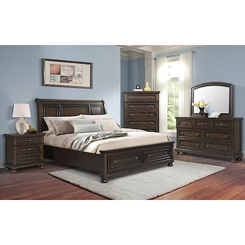 Elements International Kingston King Bedroom Group Royal Furniture Bedroom Groups Memphis