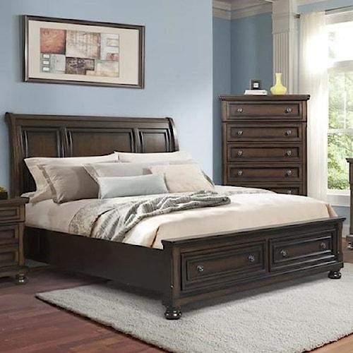 Elements International Kingston King Bed Royal Furniture Panel Beds Memphis Jackson