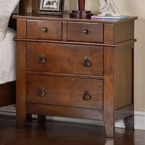 home bedroom furniture night stands elements international tucson four