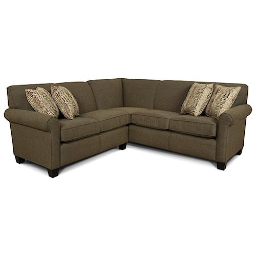 England angie small corner sectional sofa lindy39s for England furniture sectional sofa