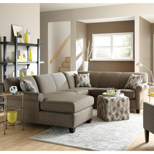 England Angie Long Sectional Sofa With Chaise Furniture