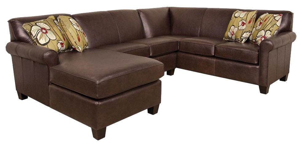 England Lilly Long Sectional Sofa with Chaise Dunk