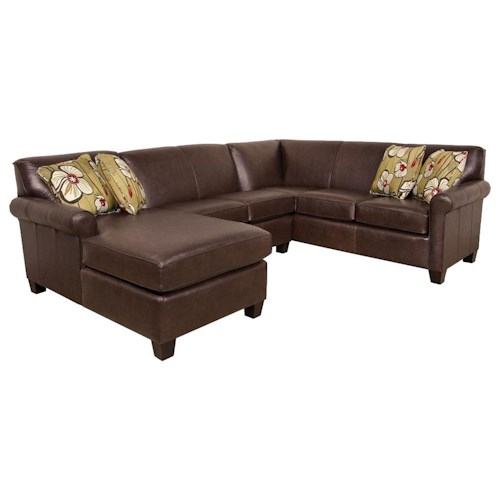 England Lilly Long Sectional Sofa With Chaise Pilgrim