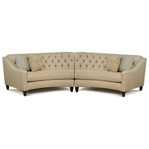 7203 Three Piece Sectional Sofa By Futura Leather: England Finneran 2 Piece Curved Sectional Sofa