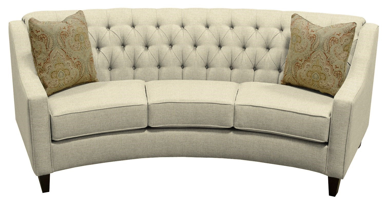 England Finneran Round Sofa With Tufted Back Jordan S