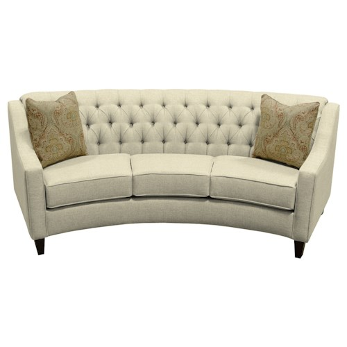 England Finneran Round Sofa With Tufted Back Pilgrim Furniture City Sofas