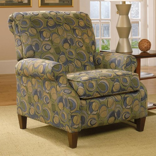 England Highland View High Leg Recliner Vandrie Home Furnishings High Leg Recliner Cadillac