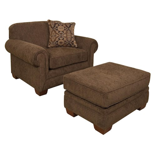 England Monroe Chair With Matching Ottoman Furniture And Appliancemart Chair Ottoman
