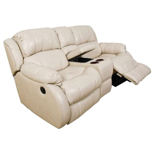 England Litton Double Rocking Reclining Loveseat With Storage Console Dunk Bright Furniture
