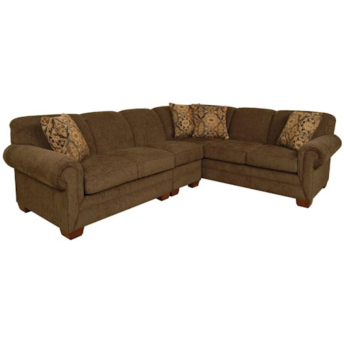 England monroe 3 piece sectional with laf sofa dunk for England furniture sectional sofa
