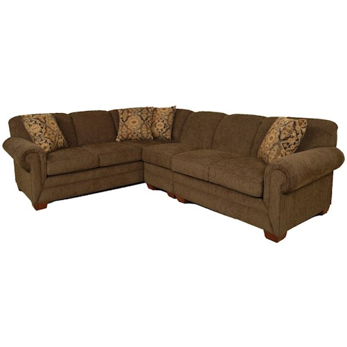 England Monroe 3 Piece Sectional Sofa With Laf Loveseat Furniture Superstore Rochester Mn