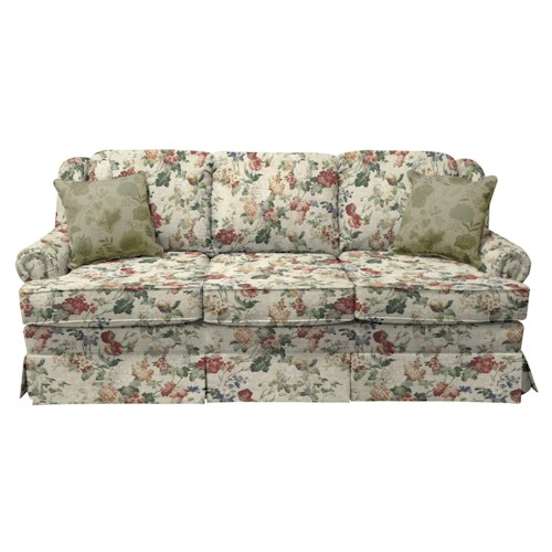 Chenille Skirted Sofa: England Rochelle Skirted Sofa Sleeper