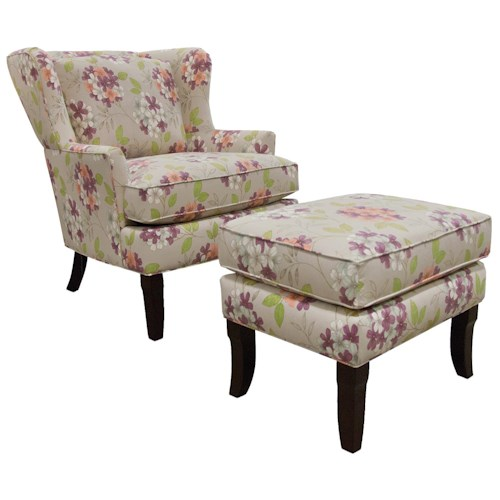 England Scarlet Contemporary Styled Living Room Chair And Ottoman Jordan 3