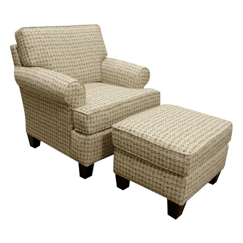 England weaver chair and ottoman set with casual style for Furniture 0 down