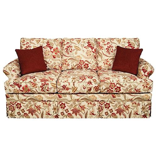 Leather Sofas Preston Lancashire: England William Traditional Skirted Sofa