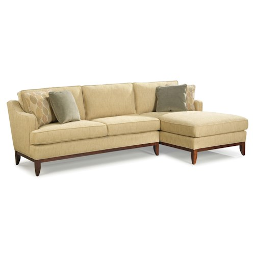 Fairfield 2714 contemporary sectional sofa with right side for Sectional sofa with right side chaise