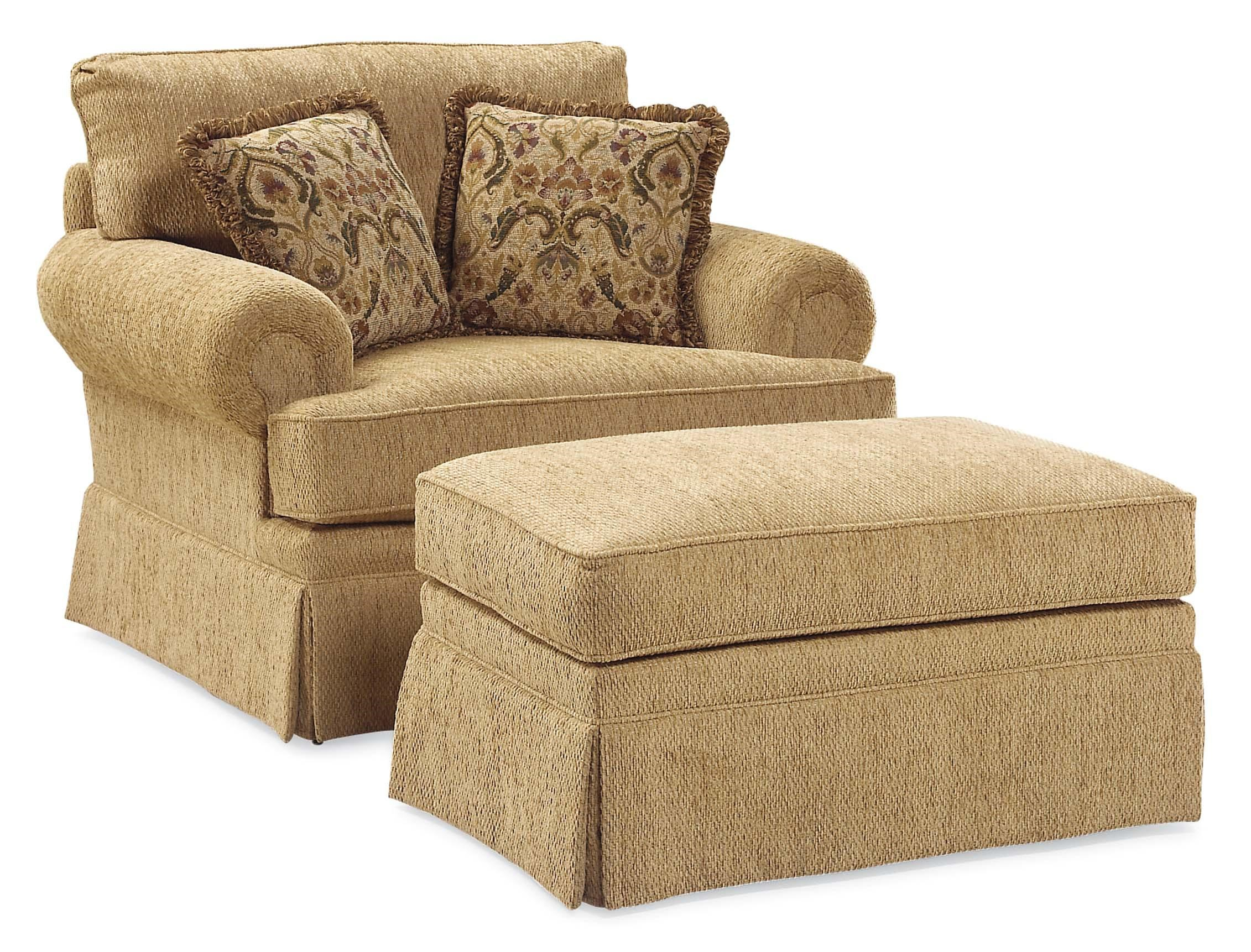 Fairfield 3736 Oversized Skirted Lounge Chair and Ottoman bination Belfo