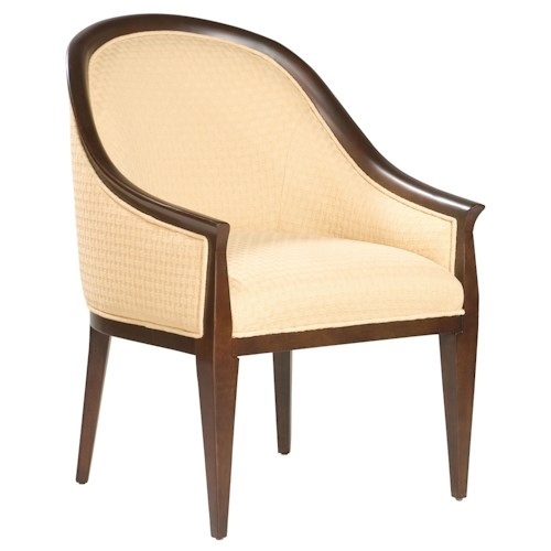Fairfield Chairs Sophisticated Lounge Chair With Exposed Wood Accents Story Lee Furniture