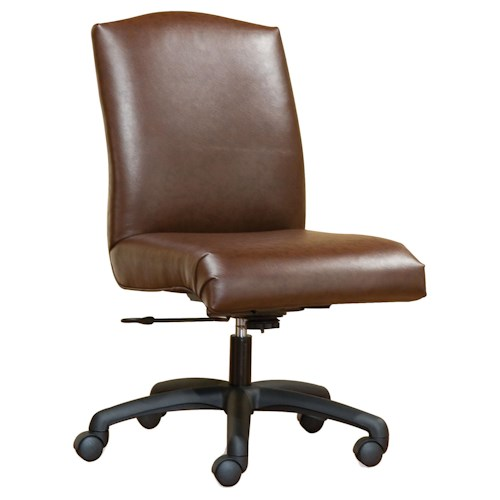 Fairfield Office Furnishings Smooth Armless Swivel Chair Belfort Furniture