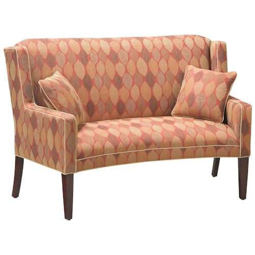 Fairfield sofa accents curved settee moore 39 s home for Traditional settees living room furniture