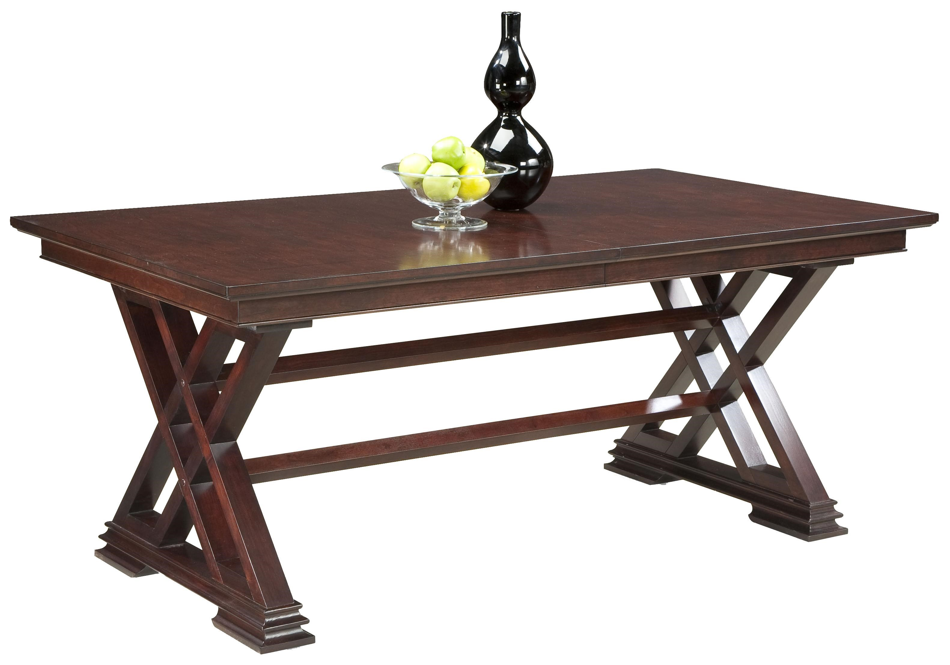 Fairfield Tables Formal Dining Room Table in Trestle Style  : tables2018120 43 bjpgscalebothampwidth500ampheight500ampfsharpen25ampdown from www.stuckeyfurniture.com size 500 x 500 jpeg 28kB