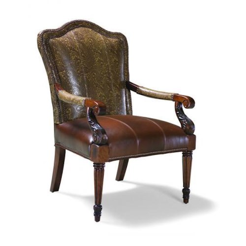 Exposed Wood Furniture ~ Fairfield chairs exposed wood upholstered occasional chair