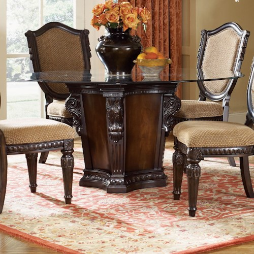 Fairmont designs grand estates pedestal dining table for Dining table nashville tn