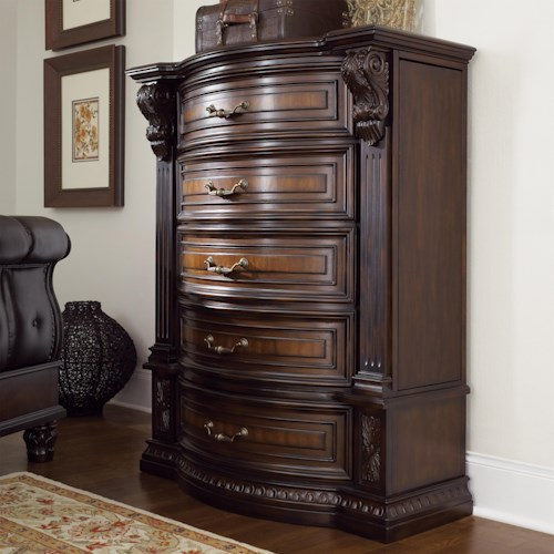 Fairmont designs grand estates five drawer chest royal furniture chest of drawers memphis for Fairmont designs grand estates bedroom