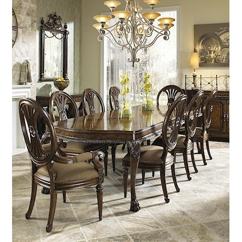 Fine furniture design belvedere nine piece formal dining for 9 piece formal dining room sets