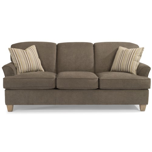 Flexsteel Vail Sofa Review: Flexsteel Atlantis Casual Sofa With Flared Arms
