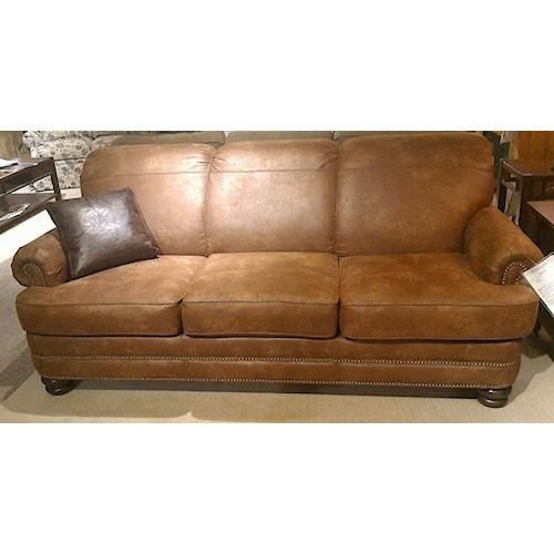 Leather Sofas Preston Lancashire: Flexsteel Bay Bridge Traditional Rolled Back Sofa