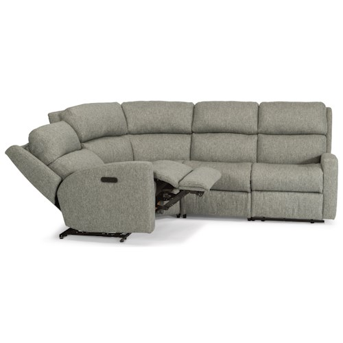 Flexsteel Catalina Four Piece Power Reclining Sectional