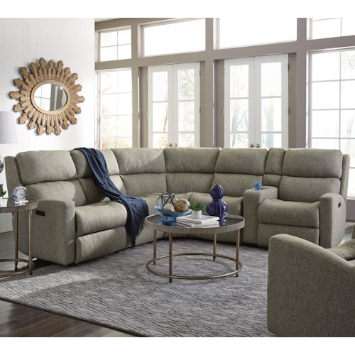 Flexsteel Catalina Six Piece Power Reclining Sectional